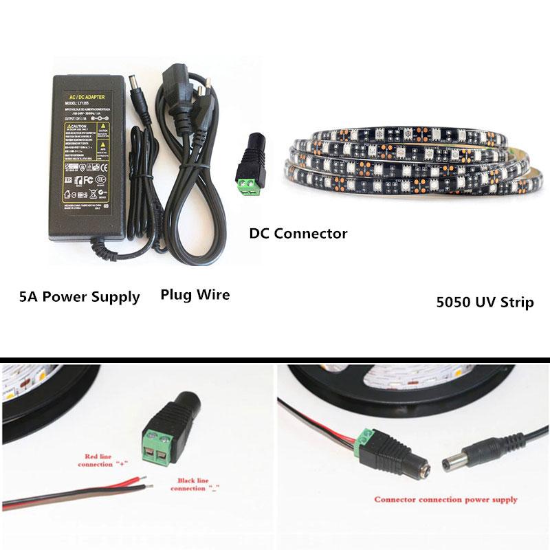 gmbh uv led strip set 5m smd5050 ip65. Black Bedroom Furniture Sets. Home Design Ideas